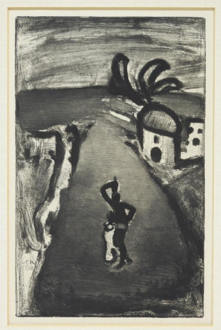 Georges Rouault Landscape with Negress Etching