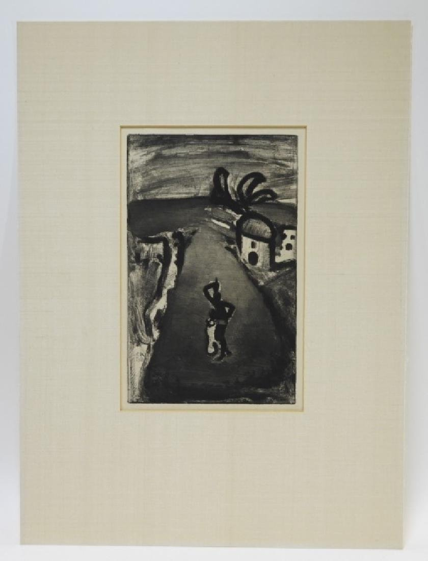 Georges Rouault Landscape with Negress Etching - 2