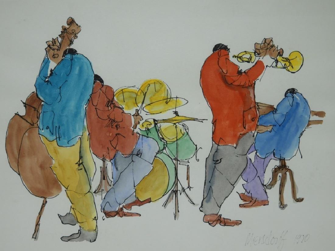 After Leo Meiersdorff Expressionist Jazz WC Painting - 2