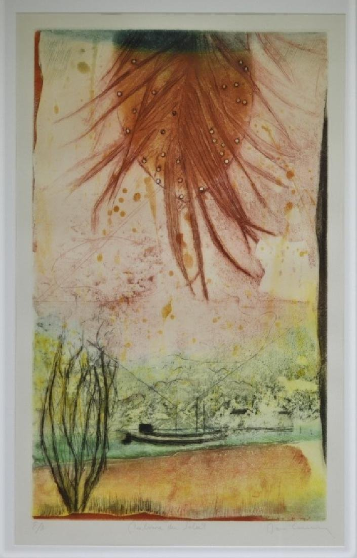 Rene Carcan Calm of the Sun Aquatint Etching