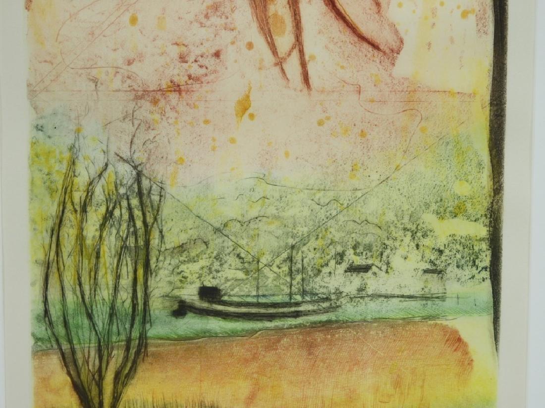 Rene Carcan Calm of the Sun Aquatint Etching - 3