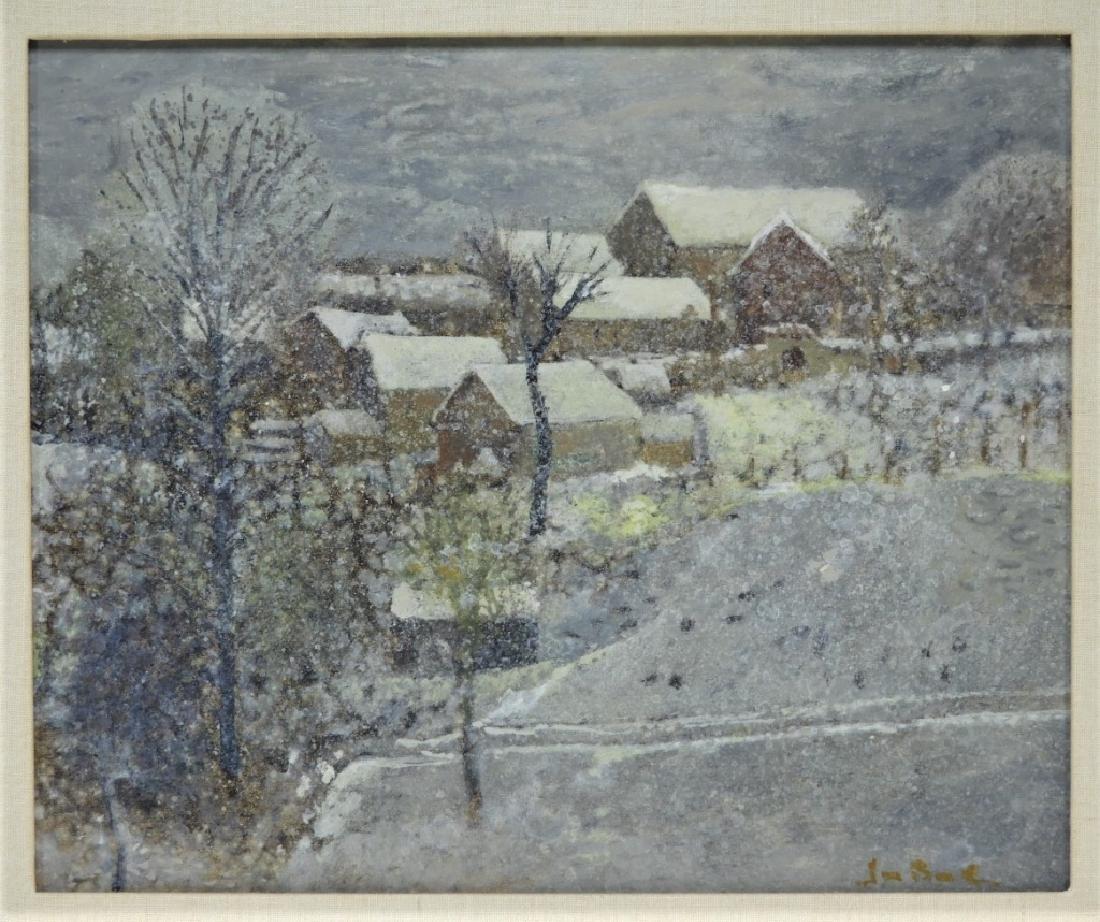 Jan Bonal Impressionist Winter Landscape Painting