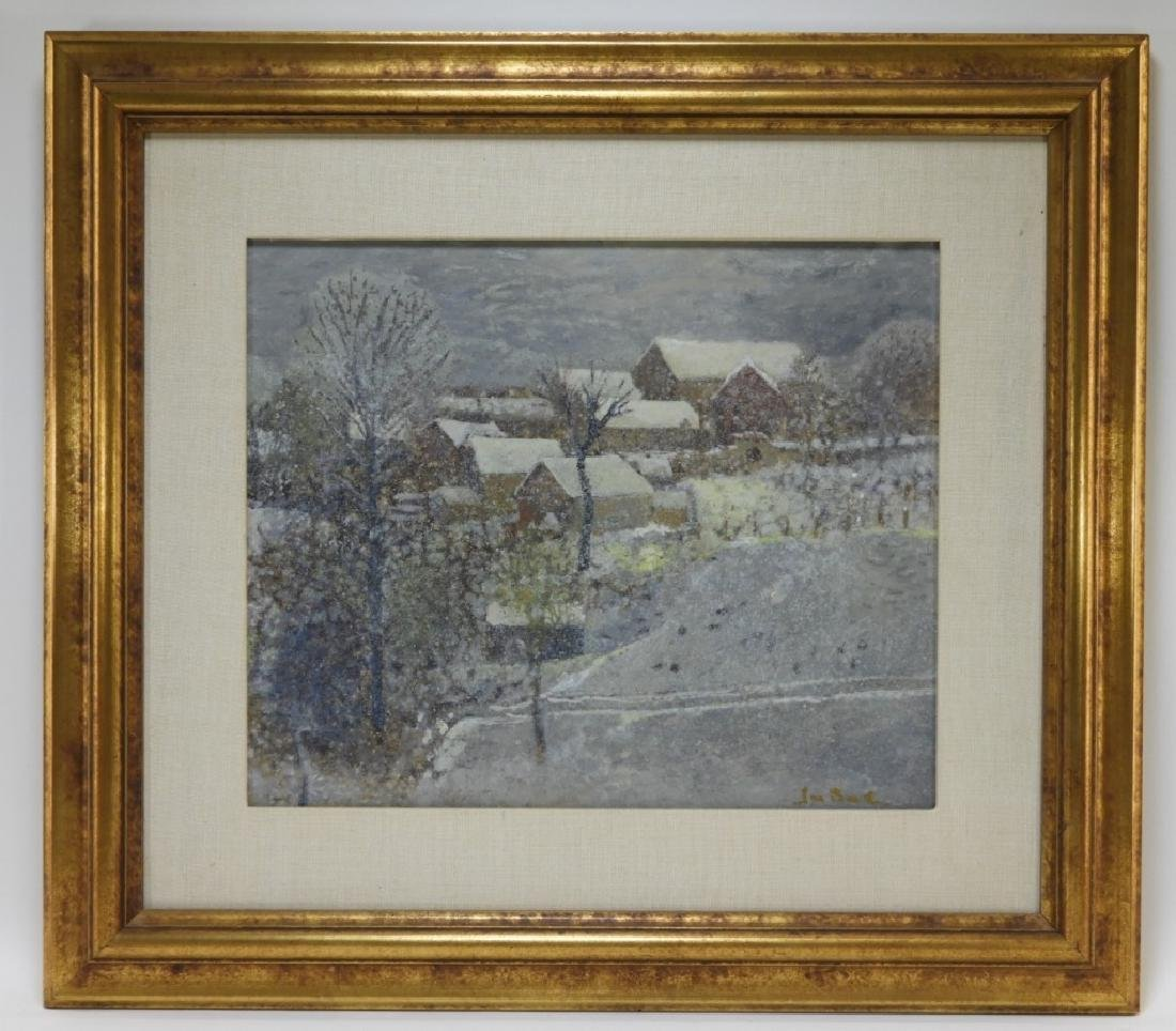 Jan Bonal Impressionist Winter Landscape Painting - 2