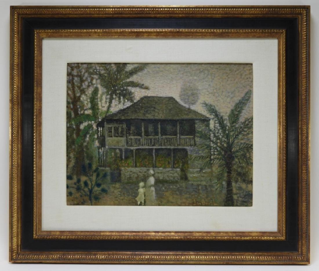 Jean Bonal New Orleans Creole Landscape Painting - 2