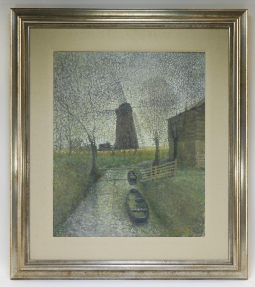 Jean Bonal Dutch Farm Landscape Painting