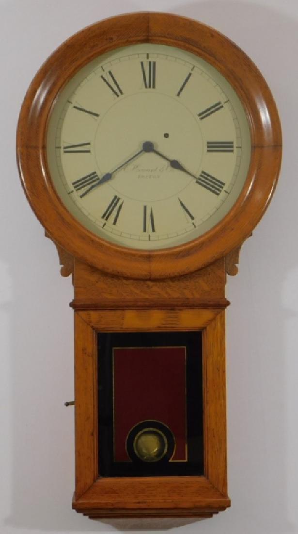 C.1890 E. Howard Boston No.70 Wall Regulator Clock
