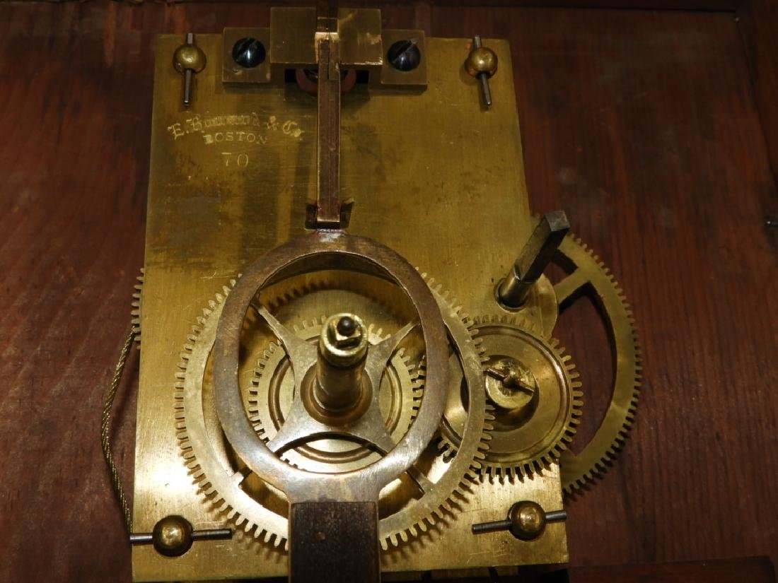 C.1890 E. Howard Boston No.70 Wall Regulator Clock - 7