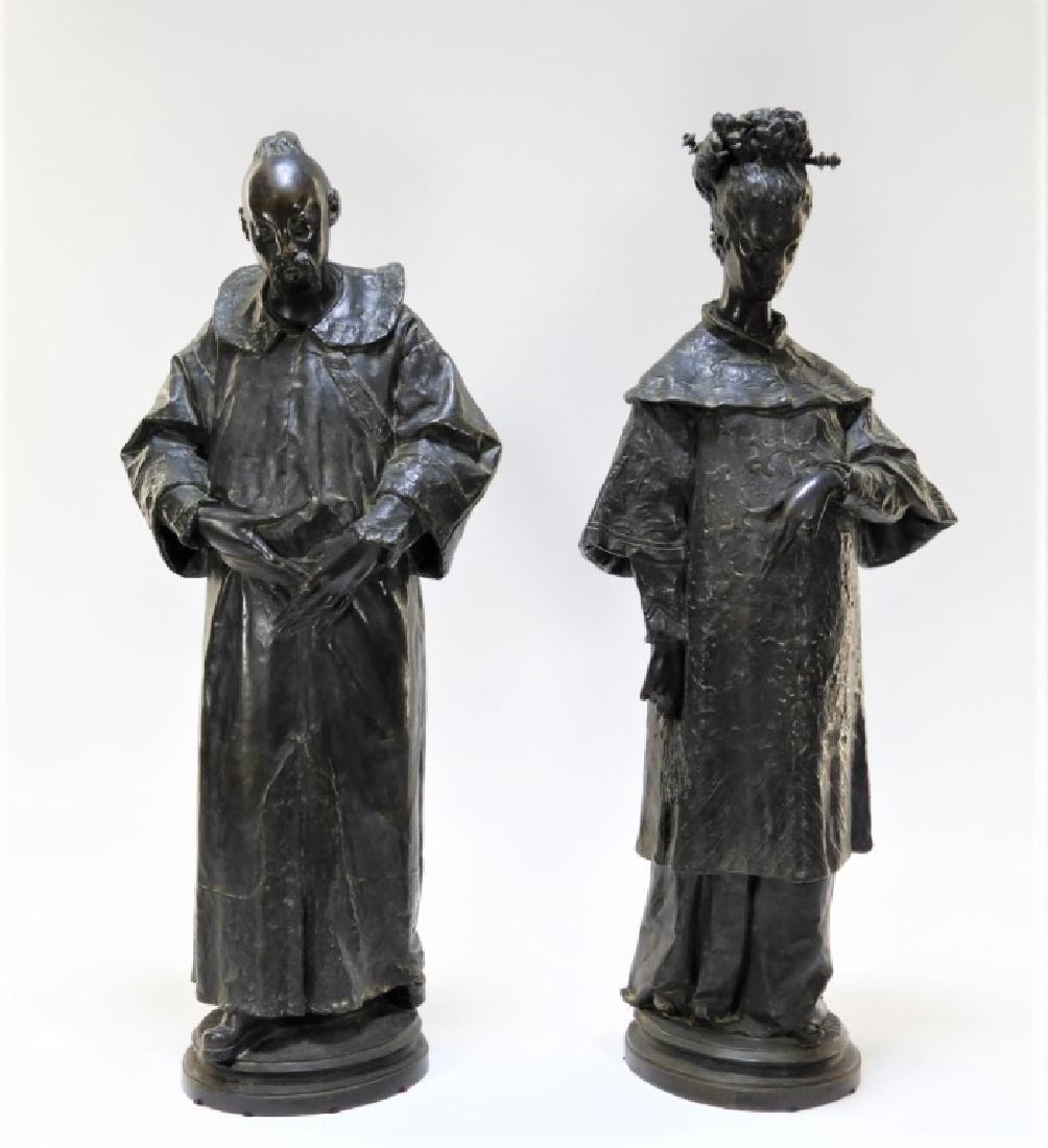 PR Ugolino Panichi Japonisme Bronze Sculpture
