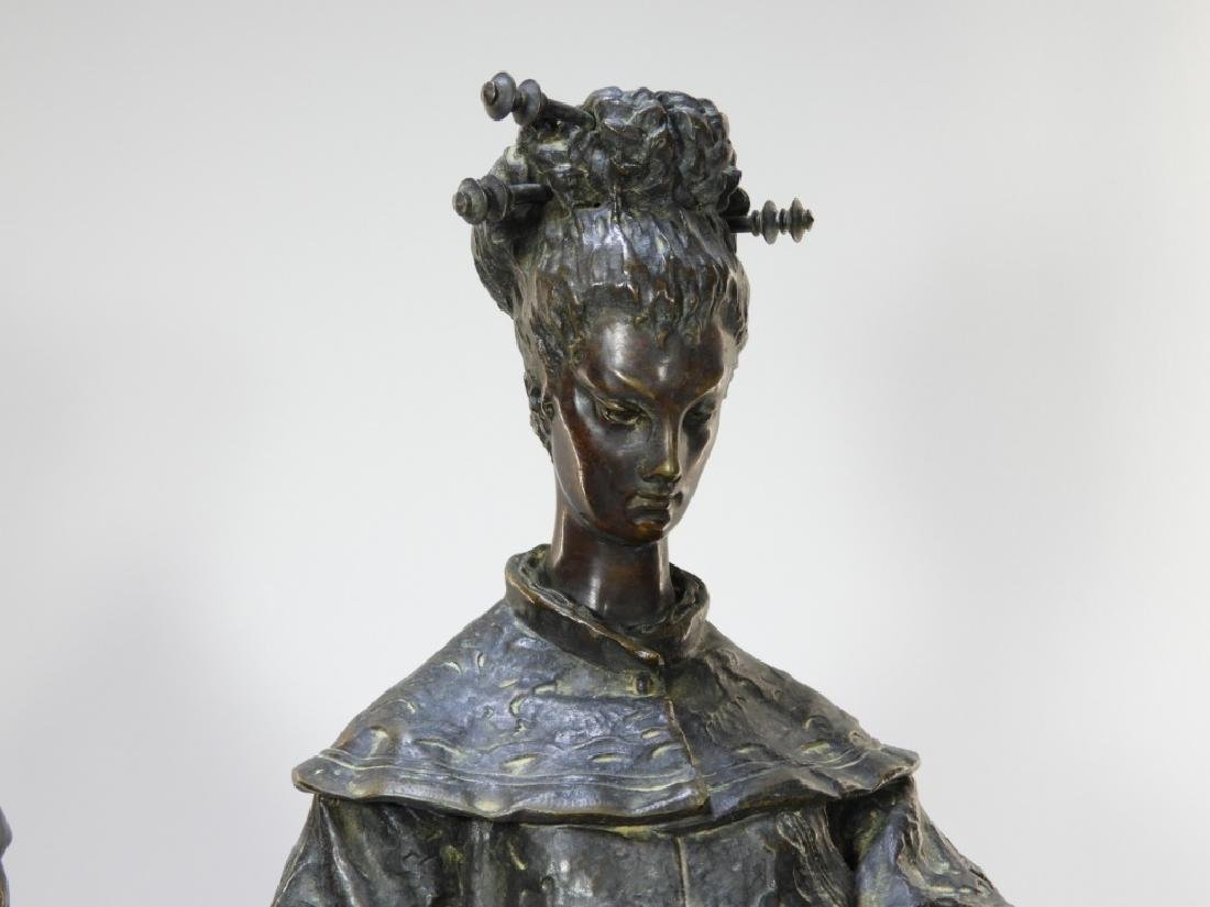 PR Ugolino Panichi Japonisme Bronze Sculpture - 3