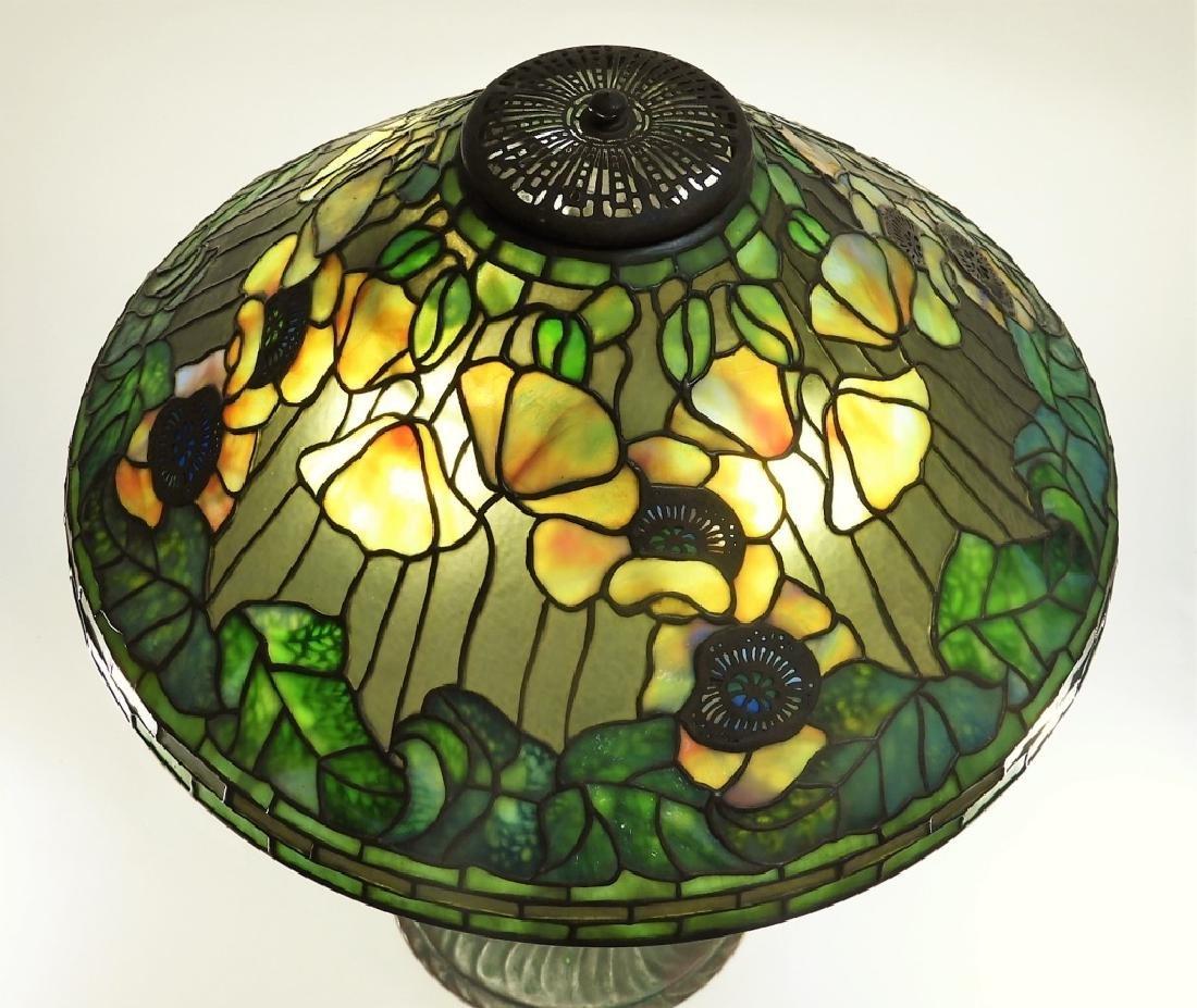 Tiffany Studios Poppy Twisted Vine Table Lamp - 10