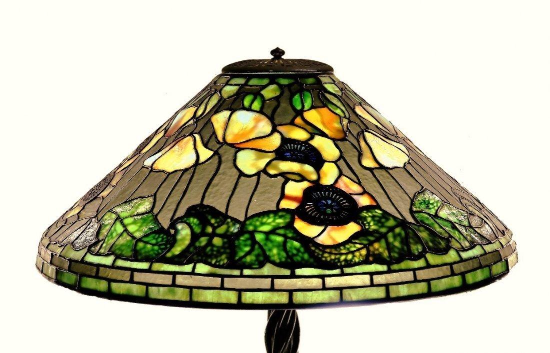 Tiffany Studios Poppy Twisted Vine Table Lamp - 2