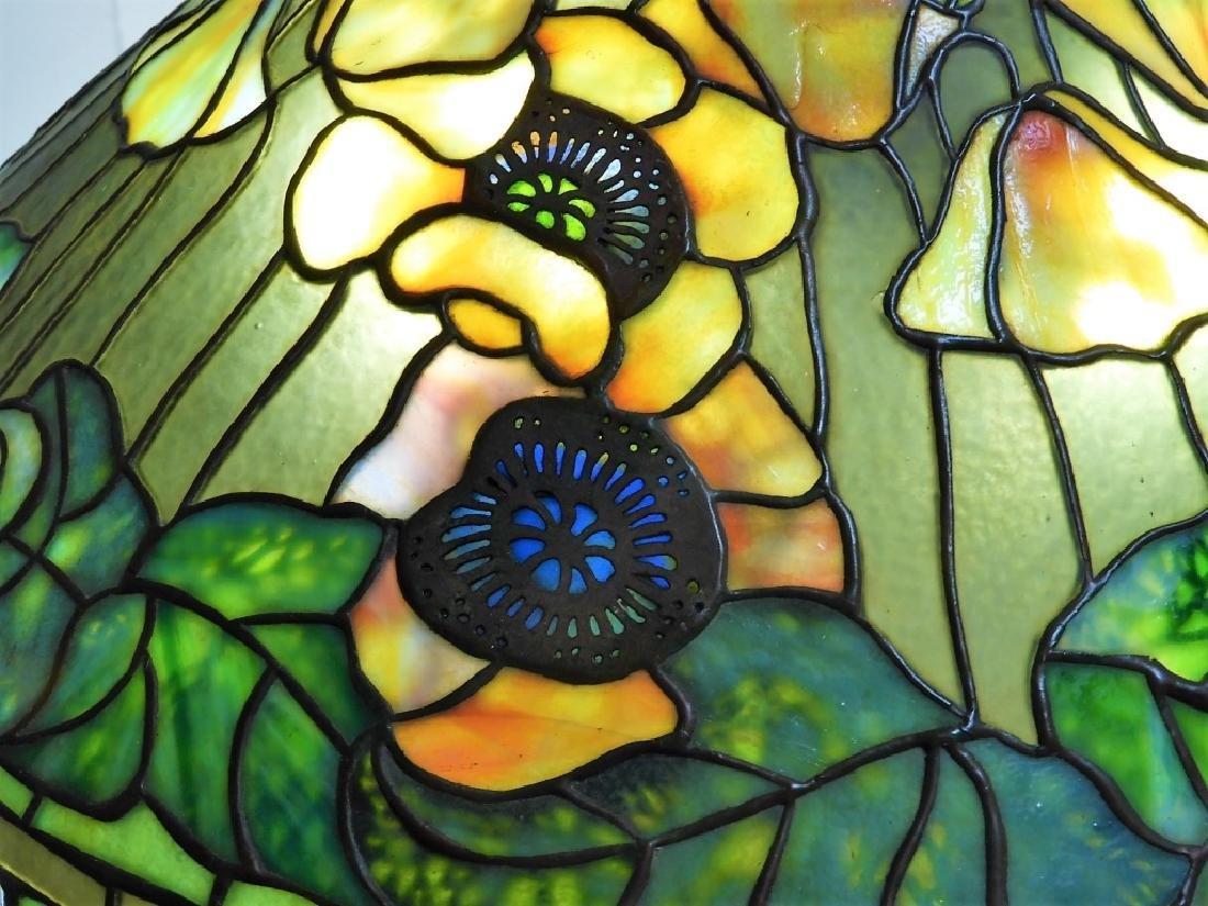 Tiffany Studios Poppy Twisted Vine Table Lamp - 7