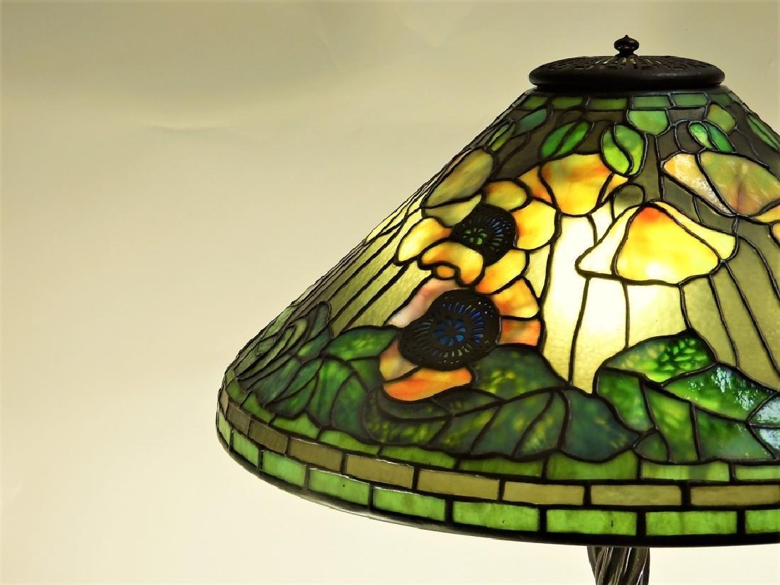 Tiffany Studios Poppy Twisted Vine Table Lamp - 8
