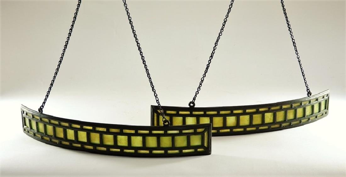 PR Tiffany Studios Green Favrile Table Lamp Screen