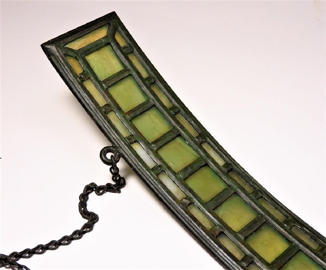 PR Tiffany Studios Green Favrile Table Lamp Screen - 4