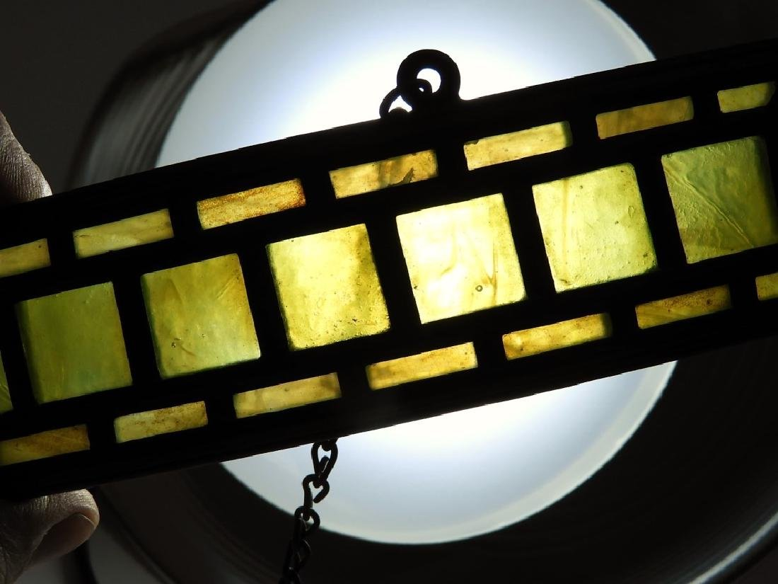 PR Tiffany Studios Green Favrile Table Lamp Screen - 6