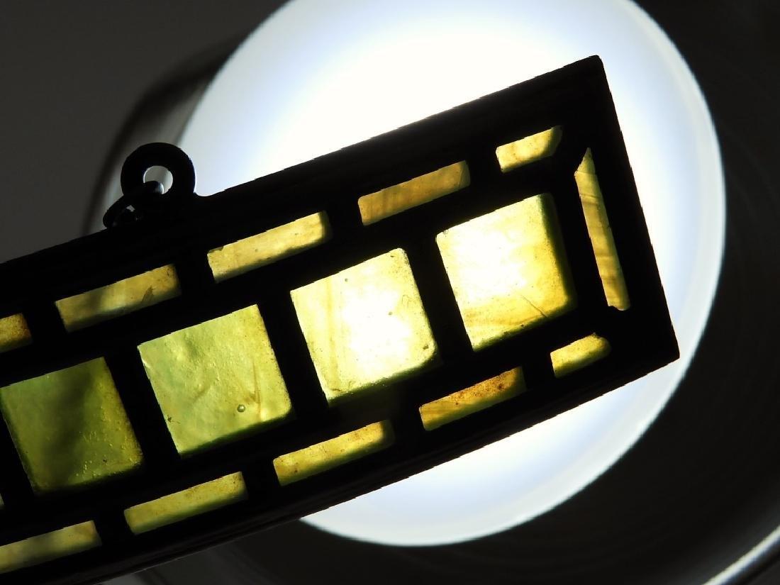 PR Tiffany Studios Green Favrile Table Lamp Screen - 7