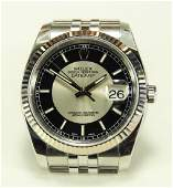Mens Rolex Oyster Perpetual Datejust SS Watch