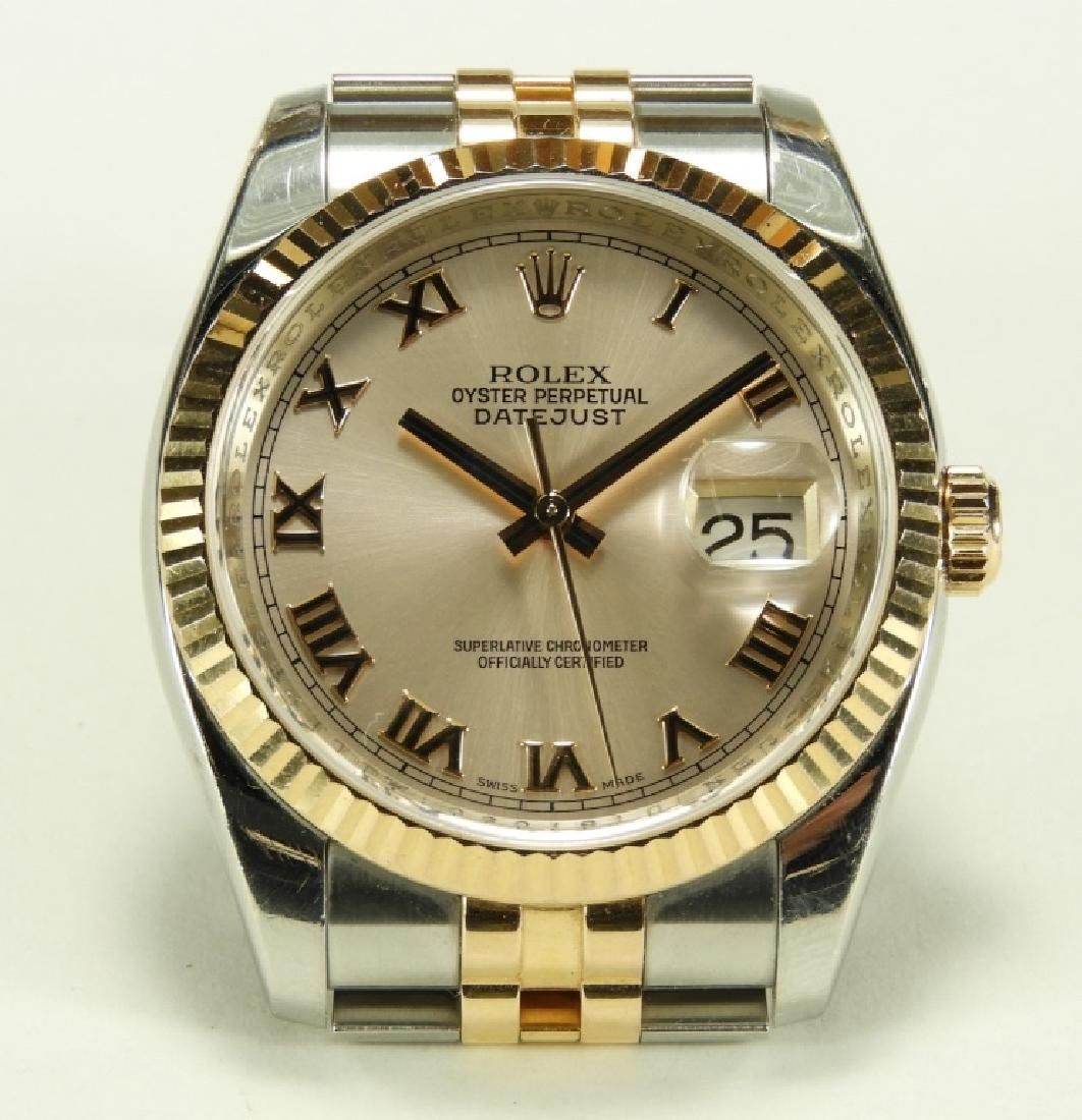 Rolex Oyster Perpetual Two Tone Datejust Watch