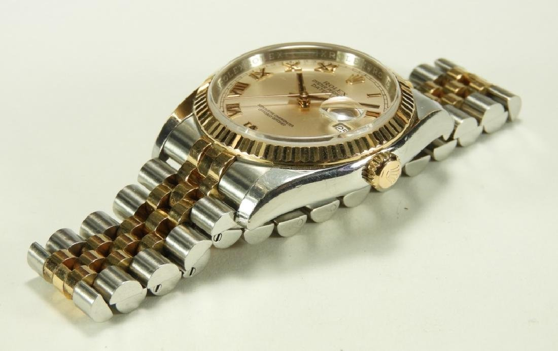 Rolex Oyster Perpetual Two Tone Datejust Watch - 2