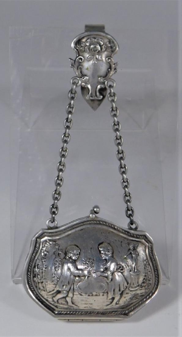 Continental Silver Chatelaine Purse