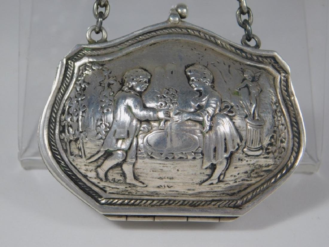 Continental Silver Chatelaine Purse - 2