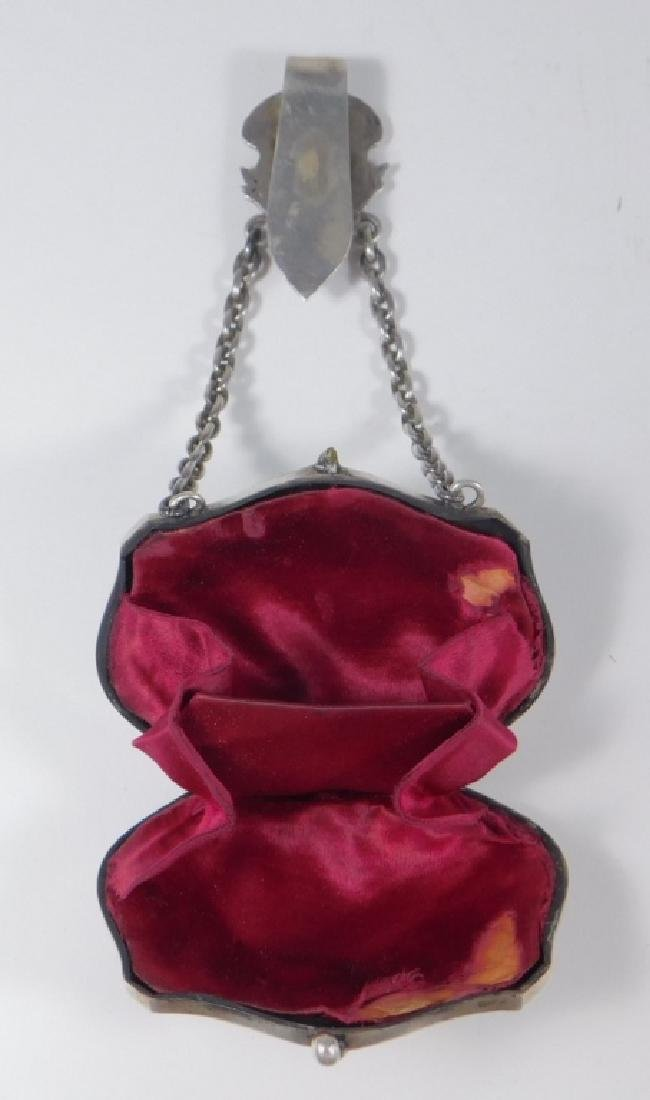 Continental Silver Chatelaine Purse - 4