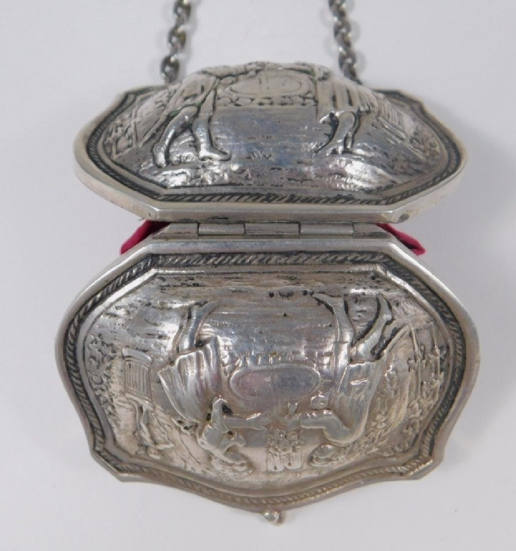Continental Silver Chatelaine Purse - 6