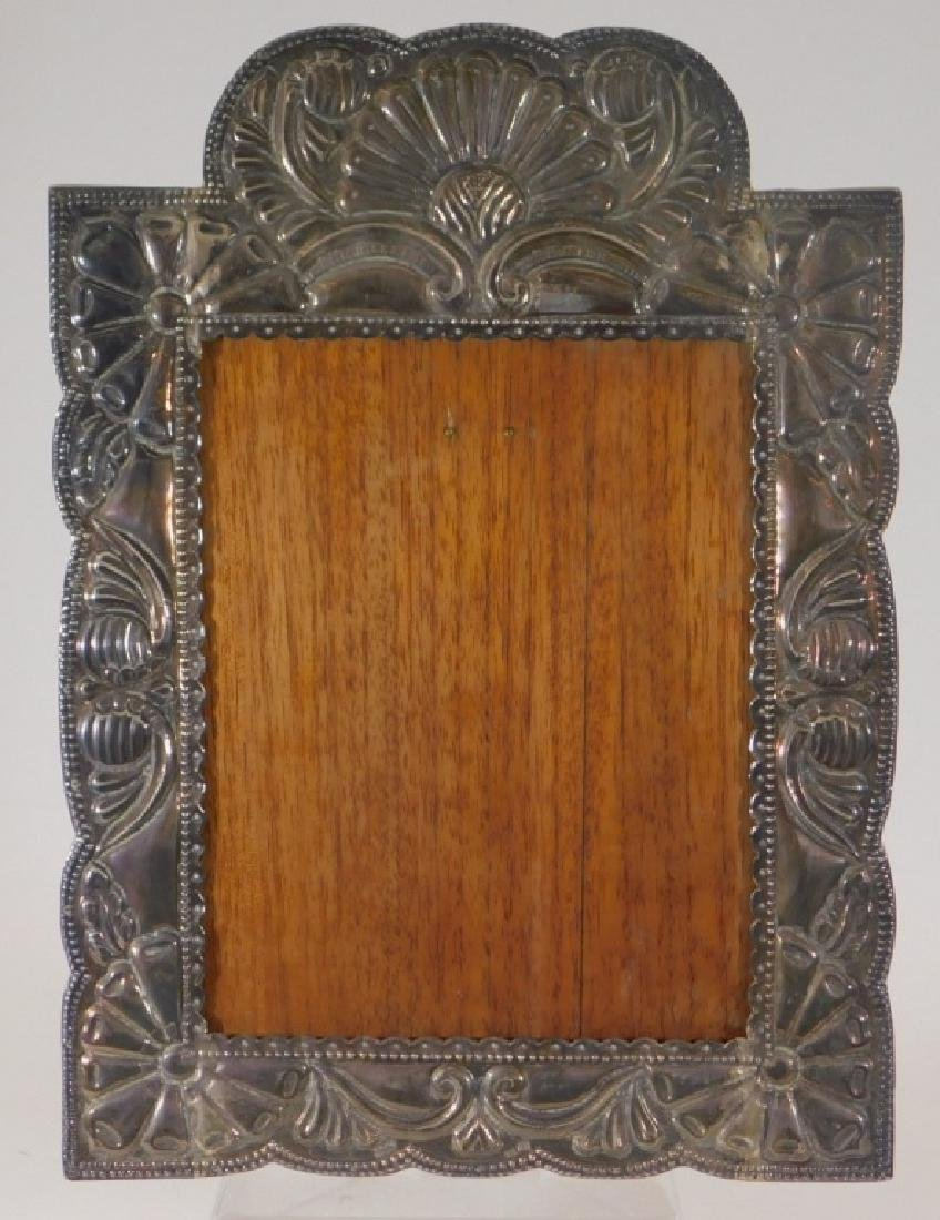 Victorian Sterling Silver Repousse Picture Frame