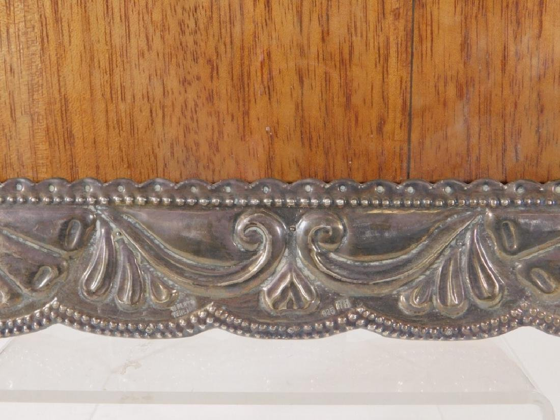 Victorian Sterling Silver Repousse Picture Frame - 3