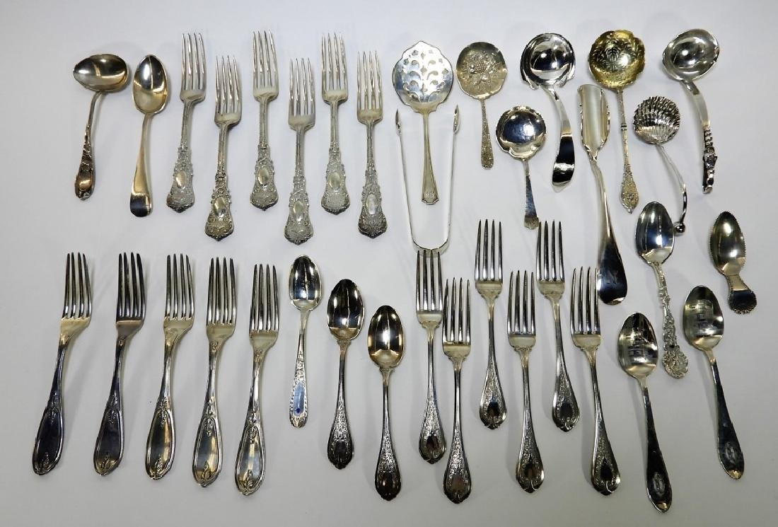 Estate Sterling Silver Flatware Grouping 55 ozt
