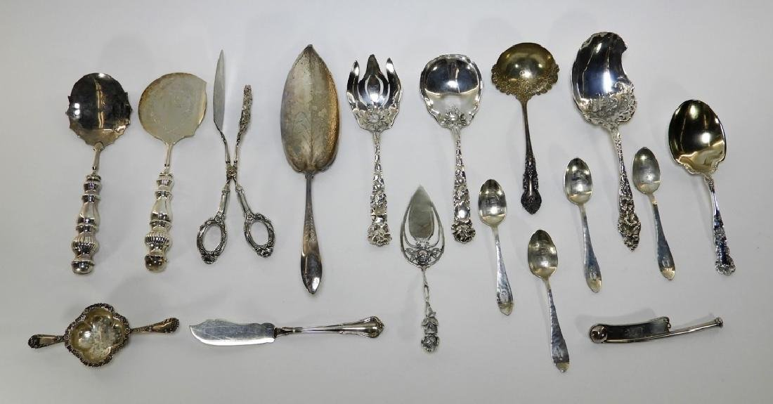 Estate Sterling Silver Serving Flatware Grouping