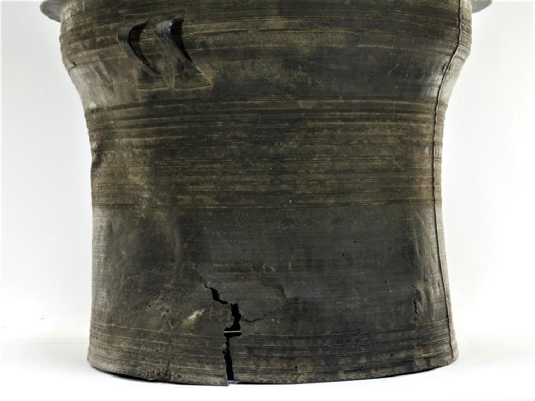 17C. South East Asian Bronze Rain Drum - 4
