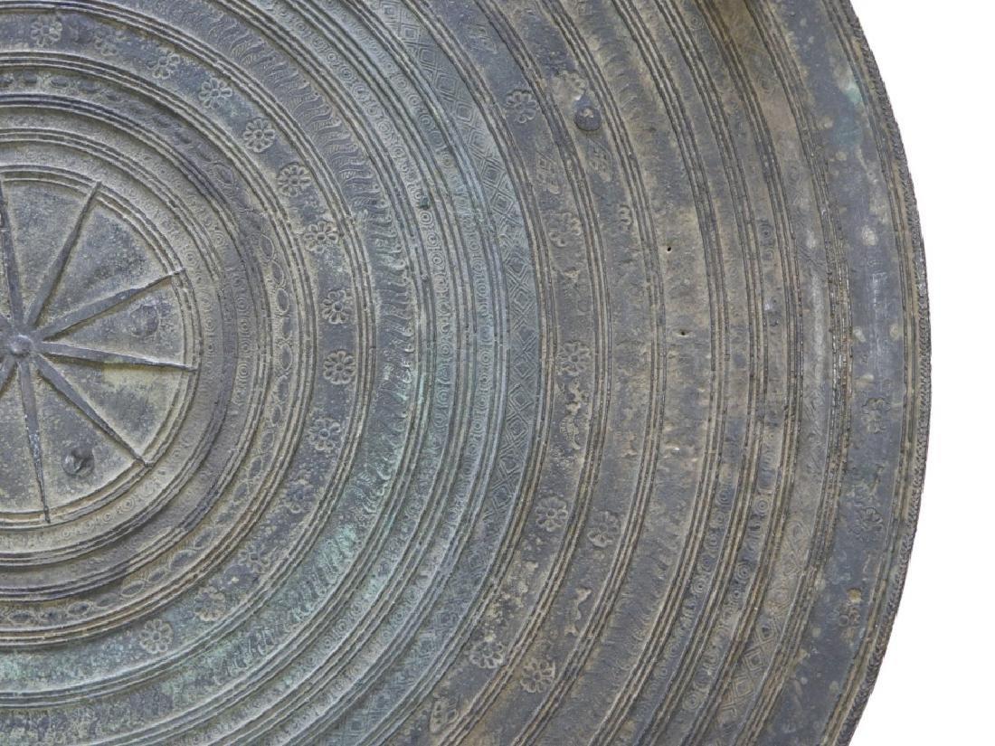 17C. South East Asian Bronze Rain Drum - 9
