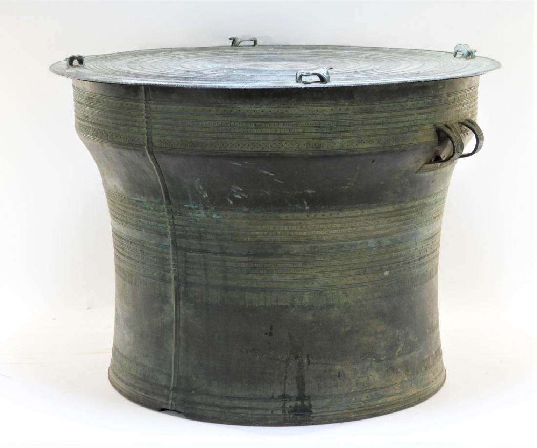 19C. South East Asian Bronze Rain Drum