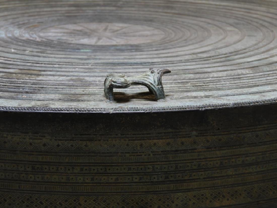 19C. South East Asian Bronze Rain Drum - 2