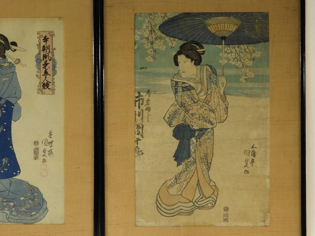 19C. Japanese Woodblock Prints of Geisha - 5