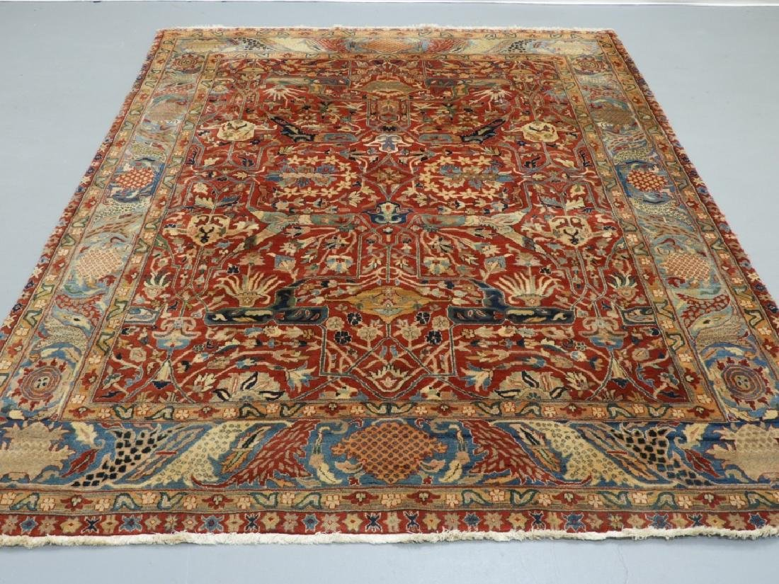 Oriental Persian Tabriz Pattern Carpet Rug
