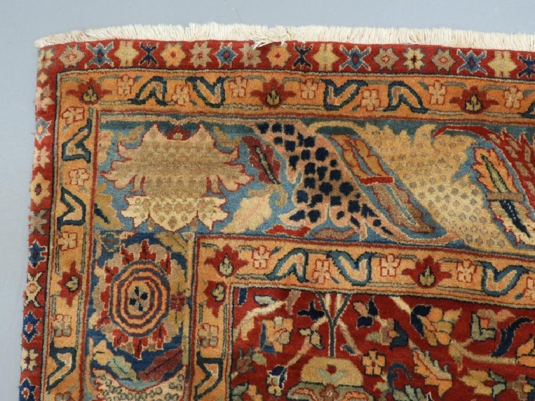 Oriental Persian Tabriz Pattern Carpet Rug - 3