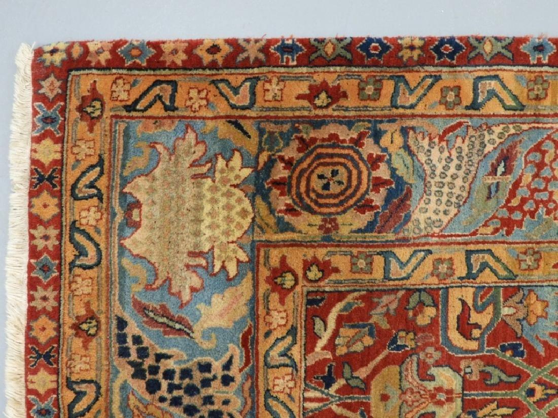 Oriental Persian Tabriz Pattern Carpet Rug - 4
