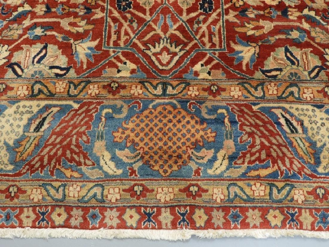 Oriental Persian Tabriz Pattern Carpet Rug - 5