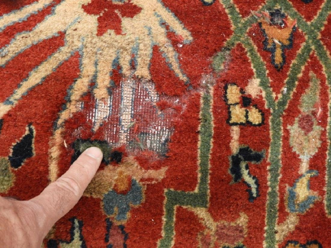 Oriental Persian Tabriz Pattern Carpet Rug - 7
