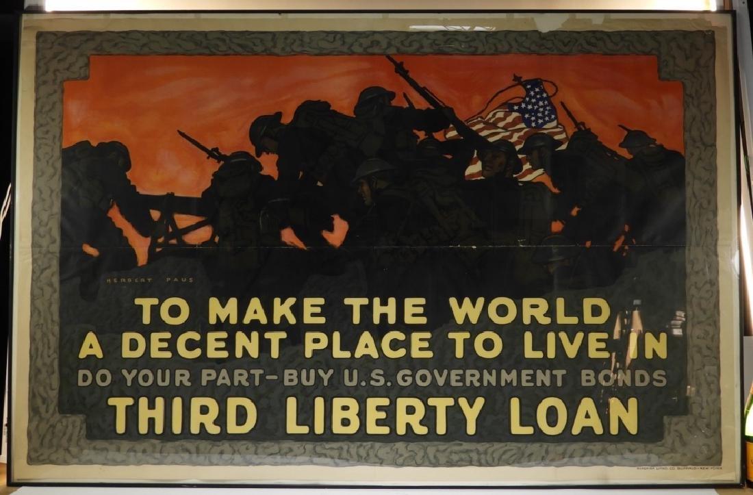 LG Herbert Paus World War I Liberty Loans Poster