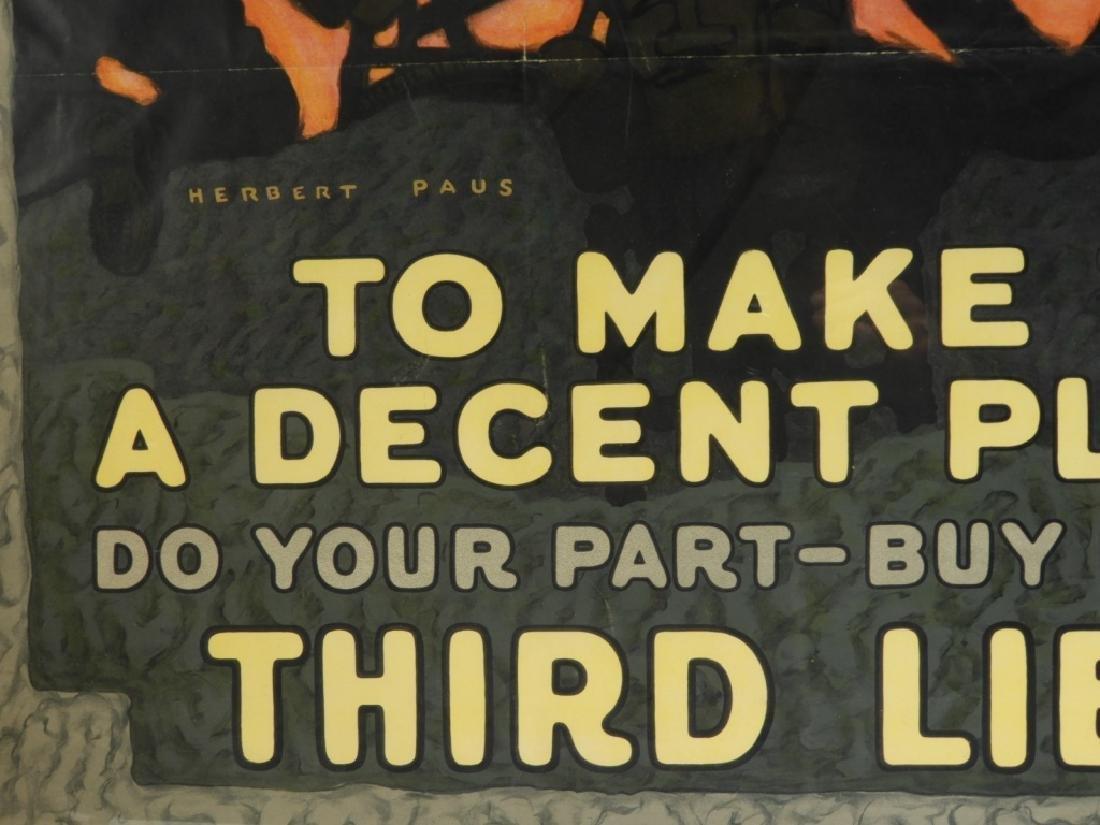 LG Herbert Paus World War I Liberty Loans Poster - 3