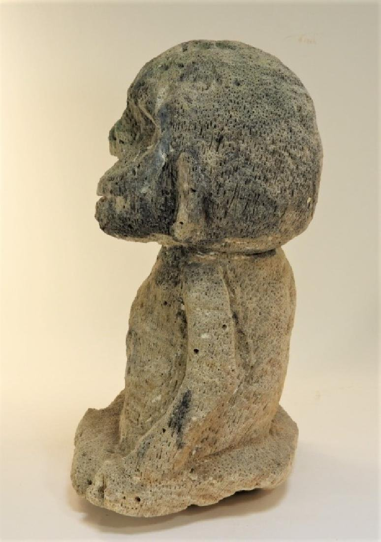 Oceanic Atoni Timor White Coral Carved Figure - 5