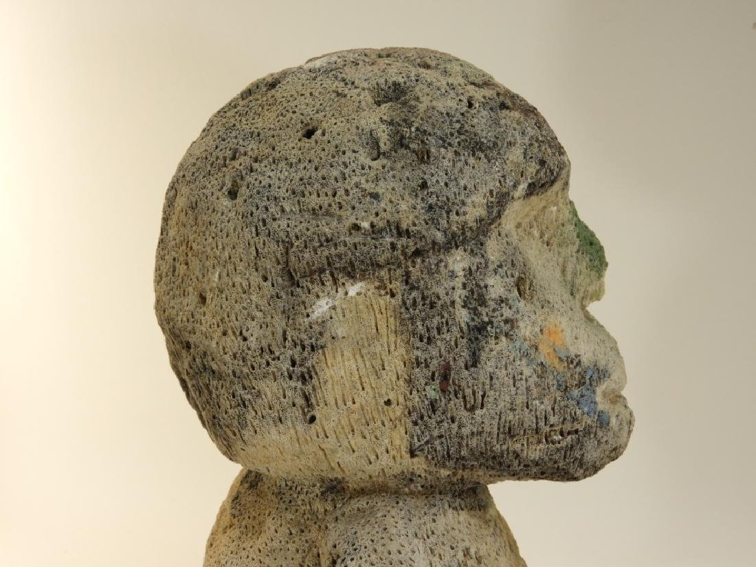 Oceanic Atoni Timor White Coral Carved Figure - 8