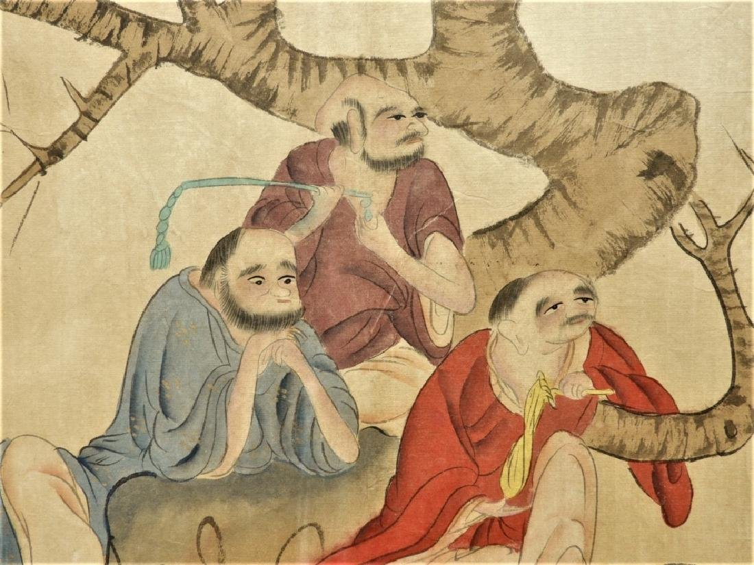 Chinese Gai Qi Qing Dynasty Painting of Scholars - 10