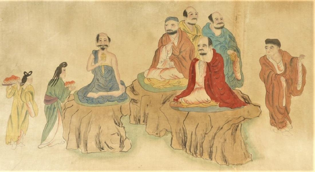 Chinese Gai Qi Qing Dynasty Painting of Scholars - 5