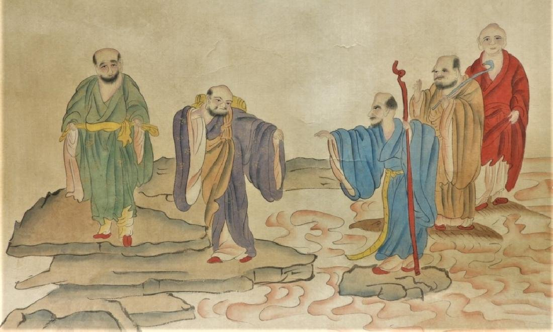 Chinese Gai Qi Qing Dynasty Painting of Scholars - 7