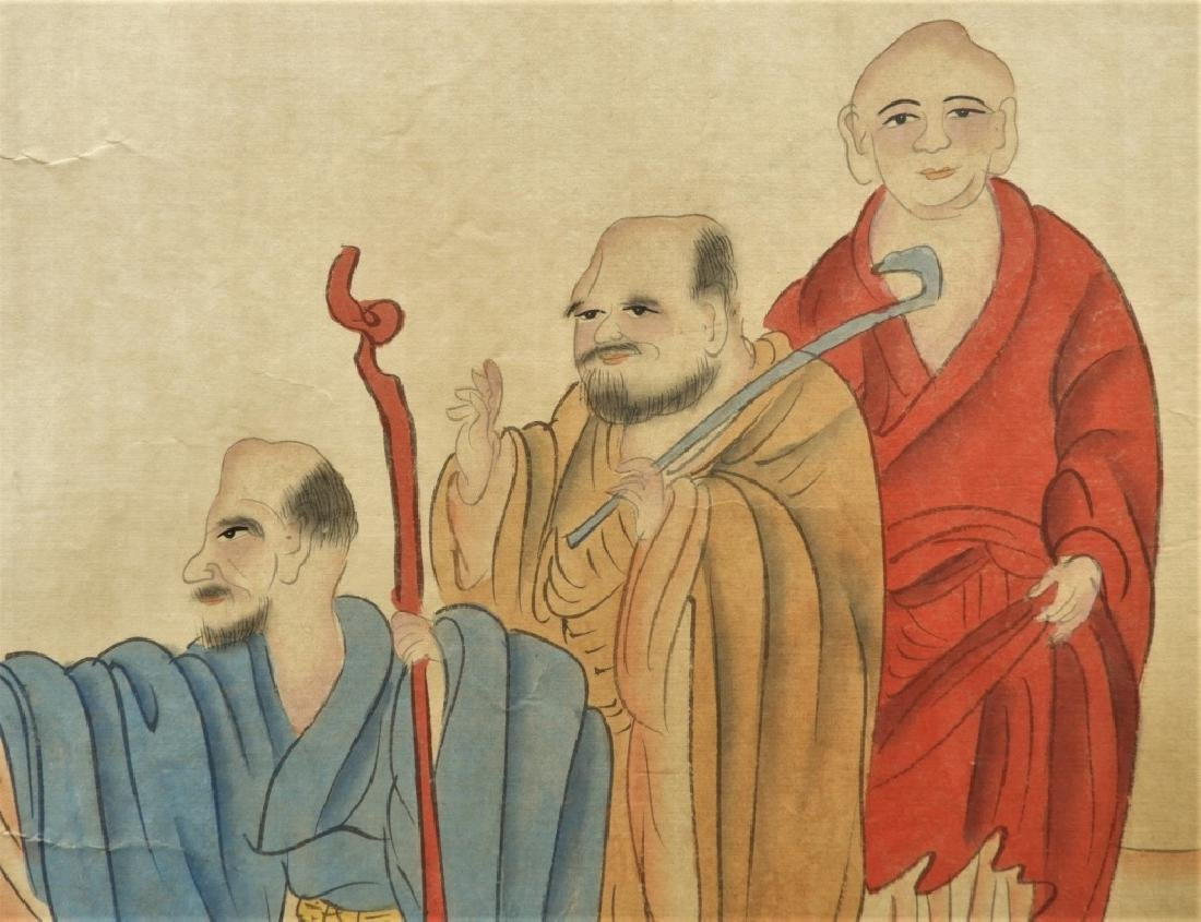 Chinese Gai Qi Qing Dynasty Painting of Scholars - 8